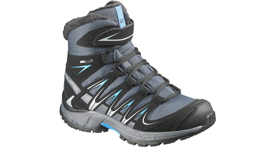 Salomon XA Pro 3D Winter TS CS WP Boots Junior grey denim/black/methyl blue